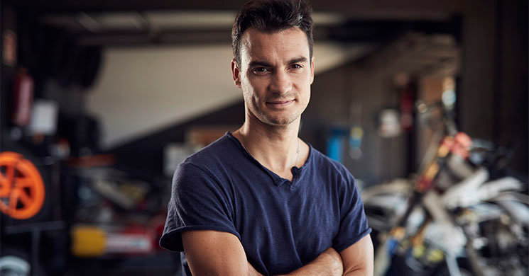 Dani Pedrosa poses for a portrait during the Documentary in Barcelona, Spain on September 14, 2018. // Arnau Puig / Red Bull Content Pool // AP-1XTG5VEBN2111 // Usage for editorial use only // Please go to www.redbullcontentpool.com for further information. //