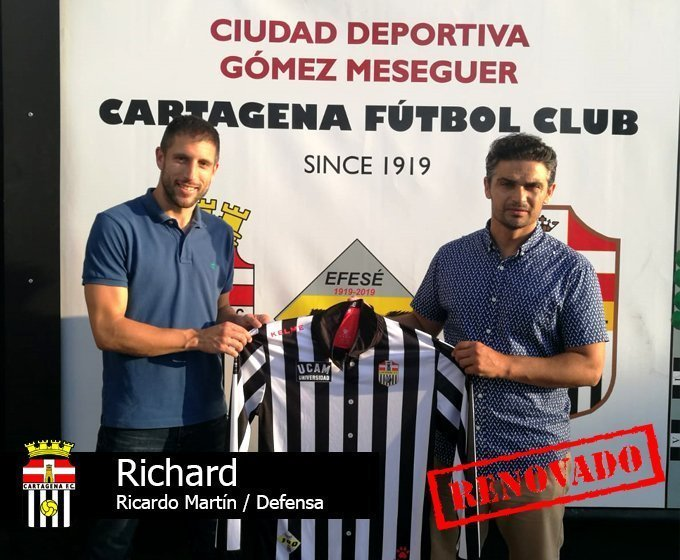 Richard, defensa, sigue en la plantilla.