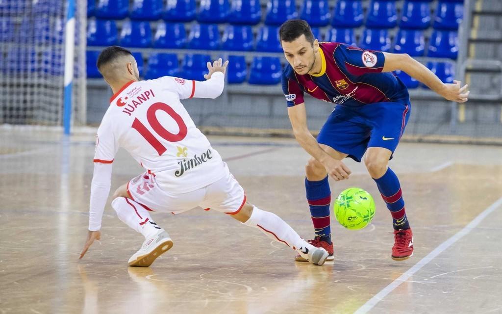 Empate entre el nuevo campéon de Europa: Barça y Jimbee Cartagena
